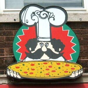 Gigio's sign outside restaurant