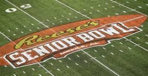 Senior Bowl field with logo