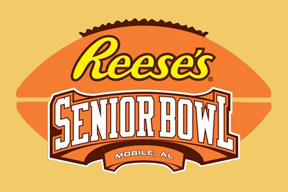 Logo for Senior Bowl. David attended and made his Senior Bowl dreams come true.