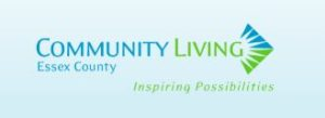 Blue and green logo for Community Living Essex County