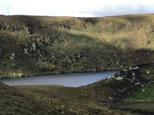 Image of Wicklow Mountains, green pastures surrounding a lake