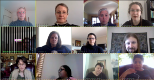 Some of Independent Futures team in a GoToMeeting video call